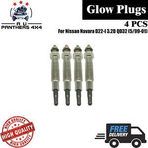 Glow Plug SET - for Nissan Navara D22-I 3.2D QD32 (5/99-01)