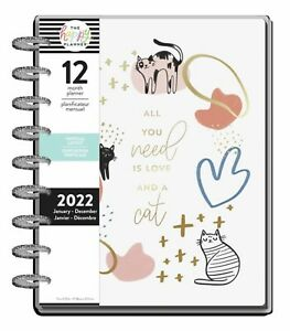 The Happy Planner Modern Meow 2022 Classic Vertical Planner 12 Months