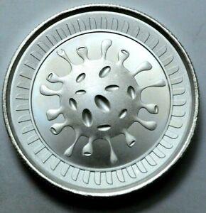2020 2 Oz 999 Silver Round Cov-19  Envela Ultra High Relief Coin,/.