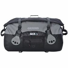 Oxford Aqua T70 Tail Pack Motorcycle Bike Waterproof Roll Top Tail Bag Black 70L