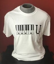 """Piano Keys """"F"""" U Guitar T-Shirt available in Size Xl and all other sizes"""