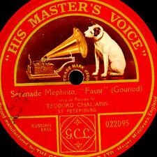 "THEODORE CHALIAPINE -RUSSIAN BASS- ""Faust"" Serenade Mephisto   78rpm  G3404"