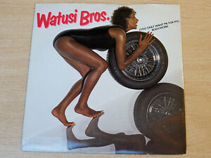 """EX- !! Watsui Bros/You Only Want Me For My Bodywork/1983 Priority 7"""" Single"""