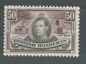BRITISH HONDURUS SG158 THE THE 1838 GVI 50c BLACK & PURPLE FRESH MINT CAT £45