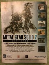 Metal Gear Solid 2 Substance Poster Ad Print Playstation Solid Snake