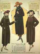 A4 Photo T Eaton Fall & Winter Catalogue 1920 21 Fur trimmed Coats Print Poster