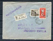 Raccomandata Italia 25+110 LIRE MIF Casalecchio di Reno-REGGIO EMILIA-b4567