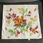 Vintage WILENDUR Lt Pink Tablecloth Autumn Pattern Fall Leaves Acorns  33' x 35'