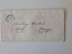 """Vorphila: Gefalteter """"Briefumschlag"""" von Stuttgart nach Ellwangen vom 27.Nov.18"""