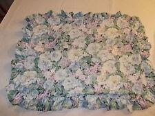 Pillow Shams Floral Ruffled Envelope Back PAIR Decorative Cottage Chic
