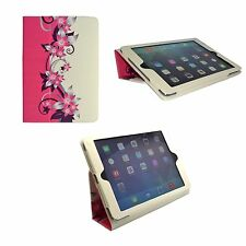 Case For Apple iPad 2 3 4 Pink Cream Flower Design PU Leather Cover