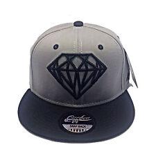 Premium Diamante Diseño Gris Con Negro Pico Gorra Plana Pico Gorra de béisbol