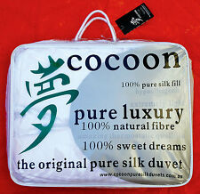 Cocoon Pure Silk Duvets. Autunm Sale! King Winter Silk Doona.