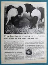 1962 MoorMans Feed Photo Ad Endorsed Robert Thorp of De Witt  County Illinois