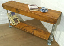 4ft Industrial Scaffold Rustic Vintage Reclaimed Pine Hall Console Table Bench