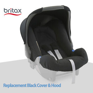 New Original BRITAX REPLACEMENT SEAT COVERS (Inc HOOD) for Baby Safe 1 - Black