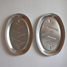 Lot of 2 Replacement NordicWare Anodized Aluminum Sizzler Plates