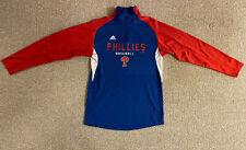 ADIDAS Philadelphia Phillies Baseball 1/4 Zip Long Sleeve Shirt Youth Size 14/16