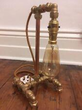 NEW Handmade & Unique Steampunk Industrial Metal Retro Copper Pipe Table Lamp