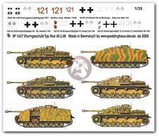 Peddinghaus 1/35 StuG IV Sd.Kfz.167 German Assault Gun Markings (5 tanks) 1637