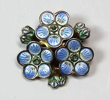 Vintage Signed David Andersen Norway Sterling Silver Enamel Gilt 3-D Flower Pin