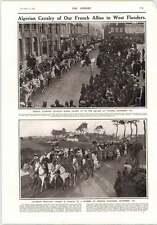 1914 Algerian Cavalry West Flanders Escorting German Prisoners