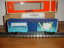 Lionel   6-29204   Century Club Boxcar  29204   Mint in Box  +  Original Shipper