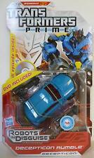 "DECEPTICON RUMBLE Transformers Prime Animated Deluxe Class 5"" Figure DVD 2012"