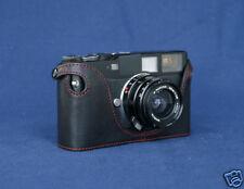Mr. Zhou Black Leather Red Stitch Half Case 4 Hexar RF