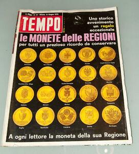 (PRL) 1970 GIUGNO TEMPO RIVISTA MONETE ORO XXXII VINTAGE COLLECTION