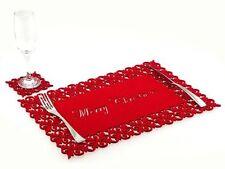 Décorations sets de table de Noël rouges pour la maison