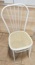 Stuhl für Garten/Terrasse/Balkon/Wintergarten - weiß/beige - Metall/Kunststoff