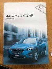 Mazda CX Paper Car Owner & Operator Manuals