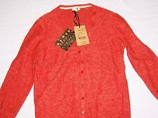 NW3 Hobbs Evelyn Cardigan Orange linen / cotton Cardigan Size 12 new tags BNWT