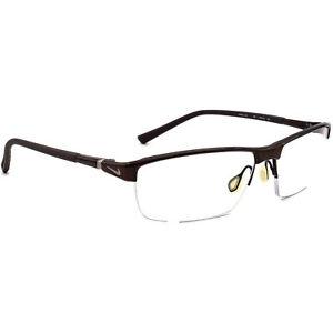 Nike Eyeglasses 6052 201 Titanium Brown Half Rim Frame 59[]15 145