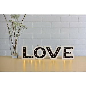 Graceful Love LED Word Light Christmas Decoration