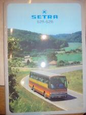 Prospekt SalesBrochure K Setra S211-S215 213HD Technische Daten Reisebus Omnibus