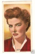 Katharine Hepburn .  Vintage Kwatta Movie Star Collector Card B