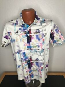 Men's Bugatchi Uomo S/S Polo/Golf Shirt Size Small (S) Mercencized Cotton