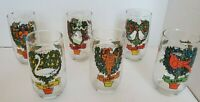 Vintage Anchor Hocking Set of 6 (of 12) Twelve of Days of Christmas Glasses
