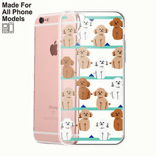 Sitting Poodle TPU Phone Case for iPhone 8 8 plus X 7 7+ Galaxy S8 S8+ Note 8 5