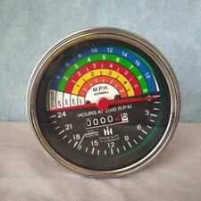 Speedometer Tachometer For IH Farmall Tractors IHSP01 With Chrome Bezel