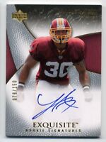 2007 UD Exquisite LARON LANDRY Rookie Card RC AUTO AUTOGRAPH #/150 Redskins #89