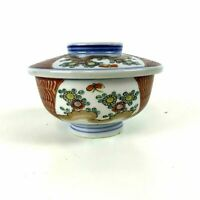 Antique Japanese Porcelain Imari Covered Bowl