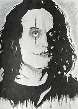 The Crow Brandon Lee Silhouette Ink Sketch   #MattmansArt