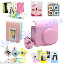 Gmatrix Fujifilm Instax Mini 8 Case Bag Accessory Bundle Set Best Gift Pink