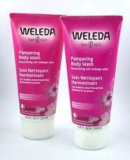 2 Pk Weleda / Pampering Body Wash / Nourishing Oils / Wild Rose Extracts 07/2021