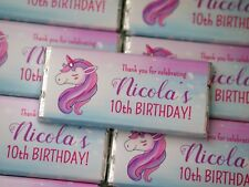Unicorn Personalised Chocolate Kids Birthday favour any occasion MUST ORDER 20+