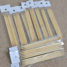 55pcs/set 13cm Double Pointed Bamboo Knitting Needles Sweater Scarf Glove Tool