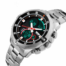 Skmei Stainless steel Waterproof Watch Analog Digital watch for men.mens watches